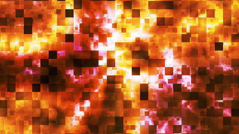 Twinkling Abstract Hi-Tech Fire Patterns, Orange, Abstract, Loopable, HD Animation