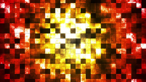 Twinkling Abstract Hi-Tech Fire Patterns, Multi Color, Abstract, Loopable, HD Animation