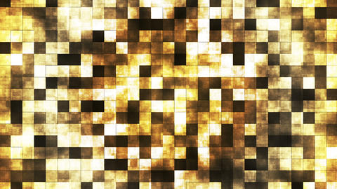 Twinkling Abstract Hi-Tech Fire Patterns, Brown Yellow, Abstract, Loopable, HD Animation