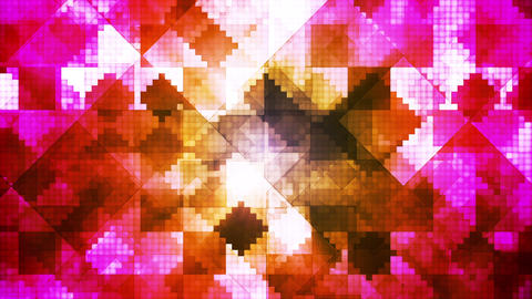 Broadcast Hi-Tech Diamond Shifting Patterns, Multi Color, Abstract, Loopable, HD Animation
