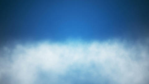 Broadcast Clouds Fly Through, Blue, Sky, Loopable, HD Animation