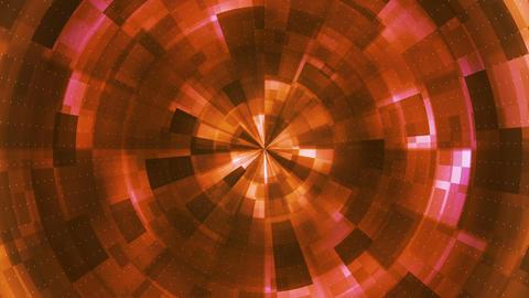 Twinkling Hi-Tech Grunge Flame Tunnel, Orange, Corporate, Loopable, HD Animation