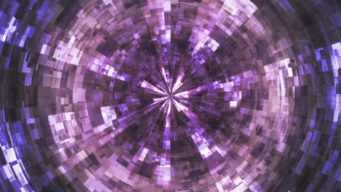Twinkling Hi-Tech Grunge Flame Tunnel, Purple, Corporate, Loopable, HD Animation