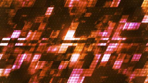 Metal Hi-Tech Slant Squared Smoke Patterns, Orange, Abstract, Loopable, HD Animation