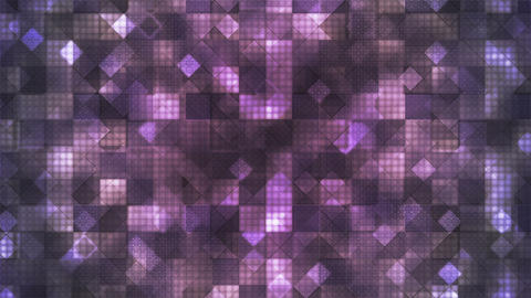 Twinkling Hi-Tech Cubic Diamond Light Patterns, Purple, Abstract, Loopable, HD Animation