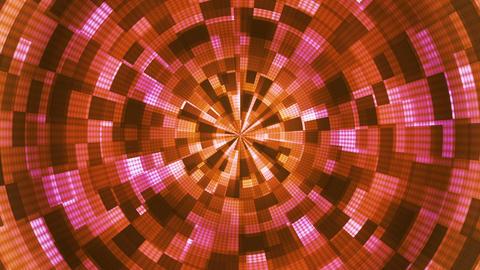 Twinkling Hi-Tech Grunge Flame Tunnel, Magenta Orange, Corporate, Loopable, HD Animation