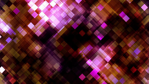 Broadcast Twinkling Hi-Tech Blocks, Maroon, Abstract, Loopable, HD Animation