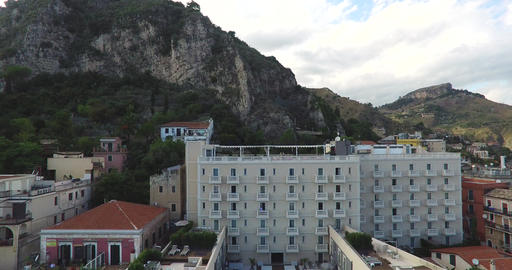 Hotel Building In Small Italian Village Footage