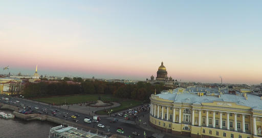 Top View On The City St.-Petersburg Russia Footage