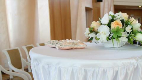 Wedding hall decoration decorative flowers Footage