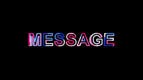 Letters are collected in text MESSAGE, then scattered into strips. Bright Animation