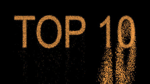 best TOP 10 appears from the sand, then crumbles. Alpha channel Premultiplied - Animation