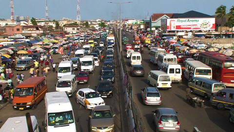 Ghana Accra central bus terminal area June 2017 Archivo
