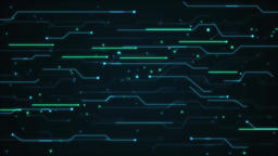 Scientific and technological line background Animación