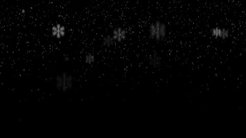 Snowing Fall 1 loop Animation