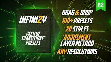 Infini2y. Pack of Transitions' Presets Premiere Pro Template