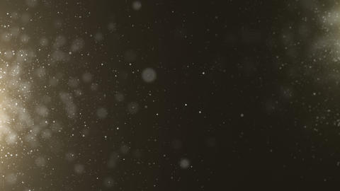 Gold particles bokeh glitter awards dust abstract background loop Image
