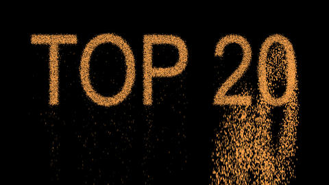 best TOP 20 appears from the sand, then crumbles. Alpha channel Premultiplied - Animation
