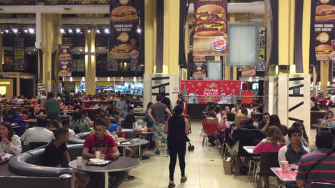 Christmas eve food court on Buenos Aires mall Image