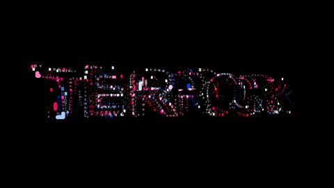 Letters are collected in text TERROR, then scattered into strips. Bright colors Animation