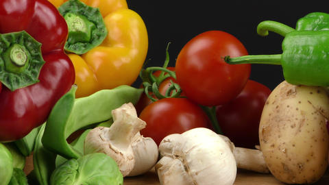 Healthy Raw Vegetable Food Composition Live Action