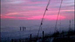 Beautiful and dramatic sunset evening Archivo