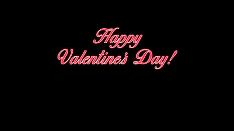 Happy Valentine's Day vintage video card Animación