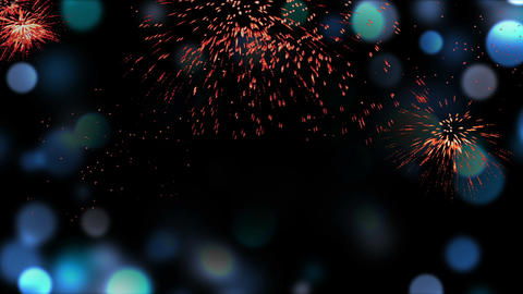 Fireworks and blue defocused lights , frame Animation