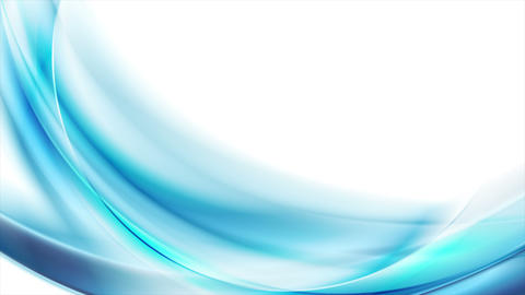 Bright blue abstract flowing dynamic waves motion design Animation