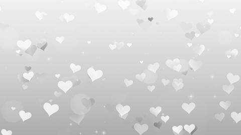 Gray Hearts on white background Footage