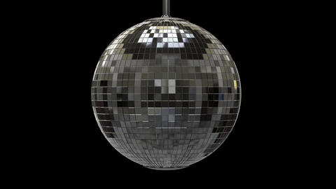 Twisted disco ball with alpha channel Animation