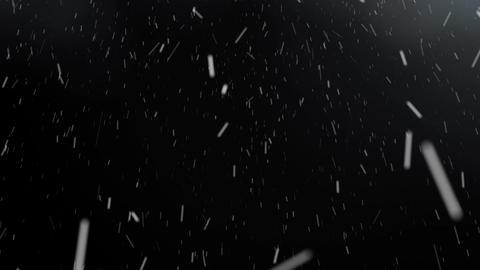 Animation Blizzard on a black background Animation