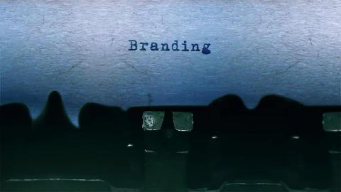branding Word Typing Sound Centered on Sheet of paper on old Typewriter 영상물