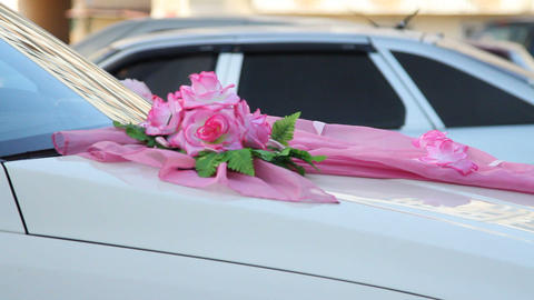 Wedding decorative ornaments car Footage