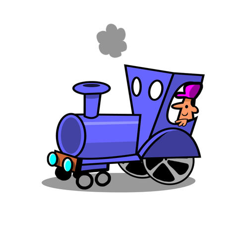 Choo Choo Train cycle Animation