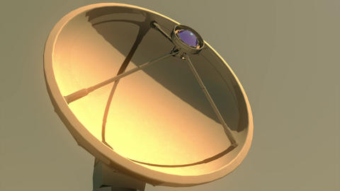 4K Astronomy Observatory Radio Telescope in the Sunset... Stock Video Footage
