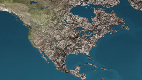 4K Dying Earth Global Warming and Heavy Pollution Affected Dried North America Animation