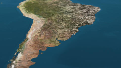 4 K Dying Earth Global Warming and Heavy Pollution Affected Dried South America  Animation