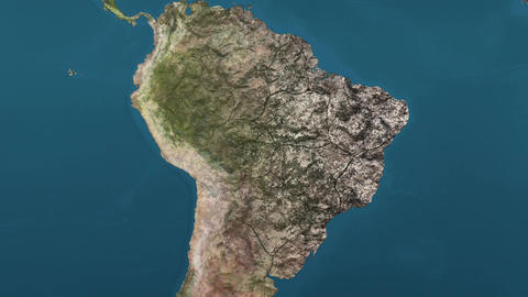 4K Dying Earth Global Warming and Heavy Pollution Affected Dried South America Animation