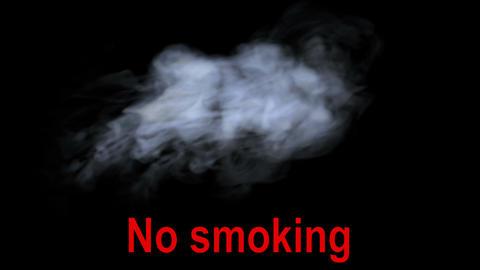 Smoke On Black, Inscription No Smoking stock footage