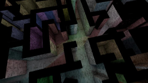 4K Mysterious Fantasy Enigmatic Maze Labyrinth 3D Animation 9 Animation