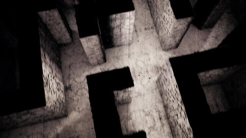 4K Mysterious Fantasy Enigmatic Maze Labyrinth Vintage 3D Animation 6 Animation