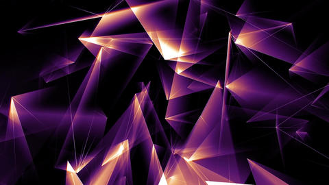 Lowpoly Triangles Motion Background Animation 4 GIF