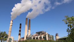 Factory Smokestacks Timelapse 001 (1080p 25fps ) Footage