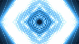 VJ Fractal blue kaleidoscopic background Footage
