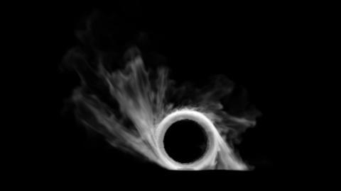 Burnout car wheel withw black background Animation