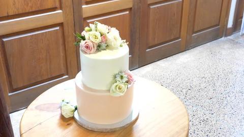Shot of Wedding cake and decoration Archivo