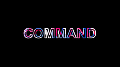 Letters are collected in text COMMAND, then scattered into strips. Bright Animation
