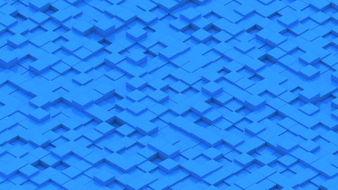 Abstract background with isometric cubes Footage