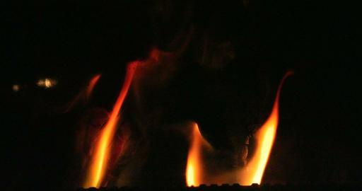 Open fire in an oven Filmmaterial